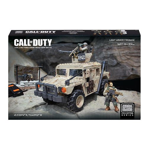 Mega Bloks Call Of Duty Light Armor Firebase Collector Construction Set (Mfg Age: 12 Years And Up)(514 Pieces)