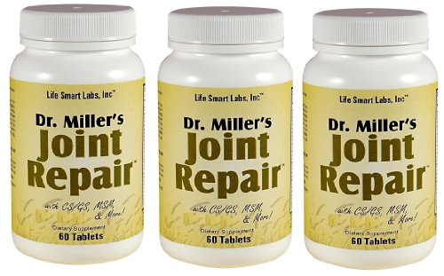3 Dr. Miller's Joint Repair purchased by people desiring Joint Pain Relief, 180 Pills, High Potency: Includes Glucosamine, MSM, Chondroitin, and more, Doctor Miller's Joint repair