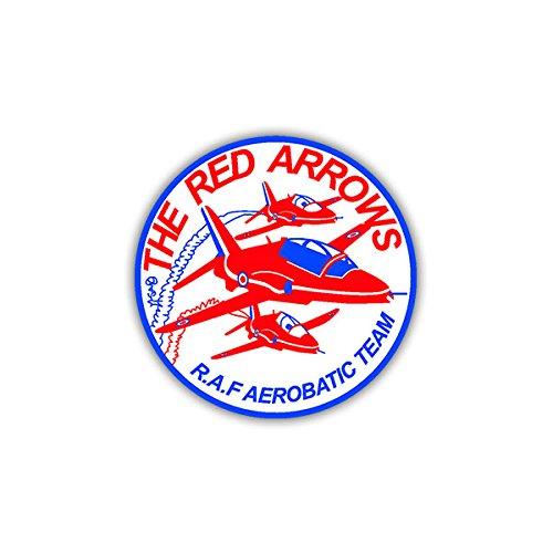 Aufkleber / Sticker -Red Arrows Aerobatic Team Wappen Patch Schulterabzeichen Emblem passend Für VW Golf Polo Gti MBW 3er Mercedes Audi Opel 7x7cm #A1114