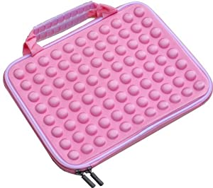 "PINK SOFT NETBOOK MICRO LAPTOP NOTEBOOK CARRY CASE BAG SLEEVE WATER RESISTANT FOR ACER ASUS SAMSUNG DELL SONY HP TOSHIBA LENOVO NET BOOK SIZES 10.1"" 10.2"" 14"" 14.1"" 15"" 15.1"""