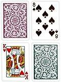 Copag Bridge Size Regular Index 1546 Playing Cards (Green Burgundy Setup)