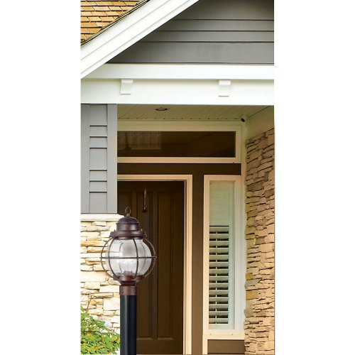 Kenroy Home 90967GC Hatteras 1-Light Post Lantern, Gilded Copper