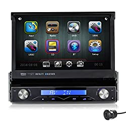 See Pumpkin 7 Inch In Dash HD Touch Screen Car DVD Player GPS Navigation Stereo Support Bluetooth/SD/USB/Ipod/AV-IN/DVR/3G with Rear View Camera as gift Details