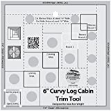 "Creative Grids Curvy Log Cabin Trim Tool for 6"" Finished Blocks (CGRJAW6)"