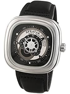 Alienwork Quartz Watch XXL Oversized Wristwatch Leather black black U9053G-01