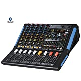 Audio 2000s AMX7332UBT 6-Channel Audio Mixer with USB, Bluetooth and DSP Sound Effects
