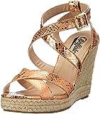 Buffalo 313508 QX3164 Damen Knöchelriemchen Sandalen mit Keilabsatz