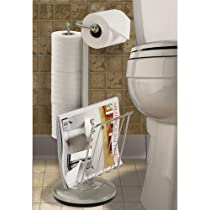 Better Living Products Satin Nickel,Tissue Dispenser with Magazine Rack