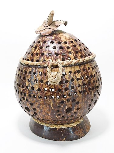 Hand Craft Home Decorative Art Natural Coconut Shell Aroma Candle Holders