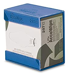 TrippNT 50008BLUE Acrylic Small Kimwipe Holder with Double Faced Mounting Tape, 3.5\