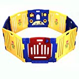 Goplus-New-Baby-Blue-Playpen-Kids-8-Panel-Safety-Play-Center-Yard-Home-Indoor-Outdoor-Pen-Blue