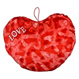 Style Addict Soft Printed Plush Heart No.6 Soft Toy, Red