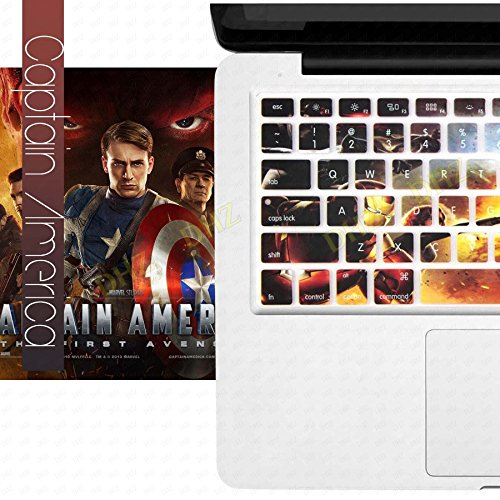DHZ Captain America Super Hero Series A Keyboard Cover Silicone Skin for MacBook Air 13