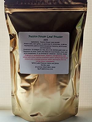 PREMIUM PASSION FLOWER LEAF POWDER- 16oz ~ 1lb(pound) ~ Fresh and Potent ~ Packaged in Resealable stand up pouches ~ White Label Premium Herbs and Spices ~