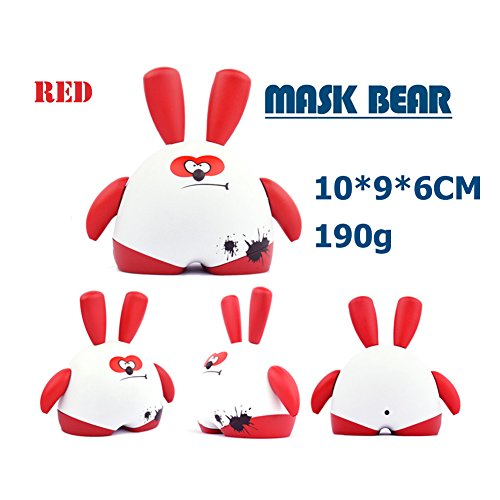iNewcow MASK BEAR Cute Originality Dolls Car Decorations Birthday Gift For Kids 10*9*6CM (Red Bobby) - 1