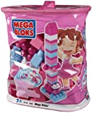 51karA77wsL. SL160  Mega Bloks Building Imagination Bag   Pink, 80 Pieces