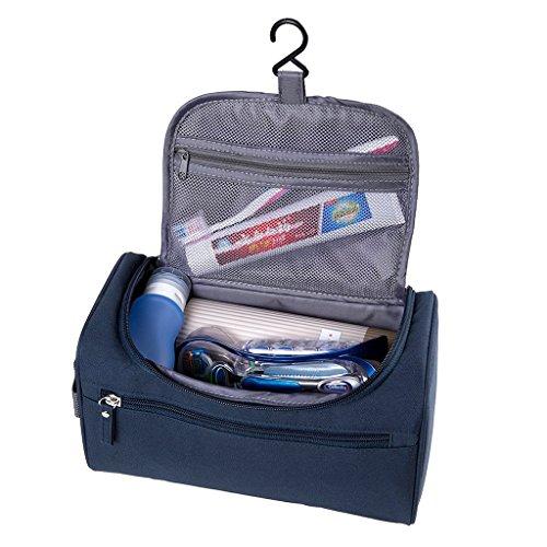 Hipiwe Beauty Case da Viaggio Borsa da Toilette Impiccagione Outdoor Pratico Cosmetici Borsa da Viaggio per Accessori Bagno (Blu)