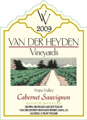 2009 Van Der Heyden Vineyards Napa Valley Cabernet Sauvignon 750 Ml