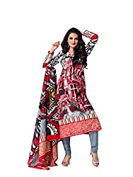 Salwar House Multicolor & Blue Unstitched Cotton Printed Dress Material with Dupatta