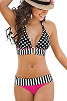 Imixcity New Polka Dot Push Up Padded Bandeau Bikini Set Sexy Swimsuits Swimwear Beachwear