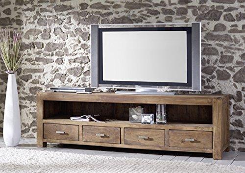 SAM-Longboard-Saber-6647-aus-Akazienholz-Sideboard-stonefarben-massiv-4-Schubladen-2-groe-Ablageflchen-viel-Stauraum