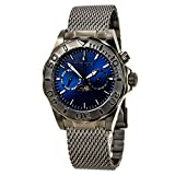 Invicta 80197 Men's Pro Diver Blue Dial Gunmetal Stainless Steel Multifunction Watch