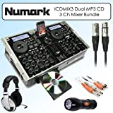 51kaxGdmDHL. SL160  Best Numark ICDMIX3 Dual MP3 CD Performance System Universal Dock for Ipod 3 Channel Mixer Bundle With Stereo Headphones, Cables & Flashlight ..Buy This