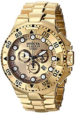 Invicta Men's 16681 Pro Diver Analog Display Swiss Quartz Gold Watch
