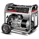 Briggs & Stratton 30467 5000-Watt Gas Powered Portable Generator with 1650 Series 342cc Engine and Power Surge Alternator, Engine Oil Included