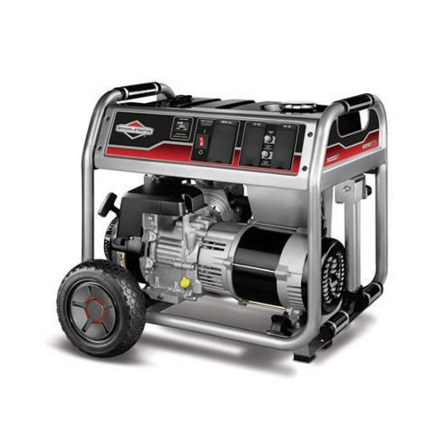 51kaxMXv uL. SL500  Briggs  &  Stratton 30467 5,000 Watt 342cc Gas Powered Portable Generator With Wheel Kit