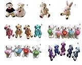 Wholesale 20pcs FLY Bear baby toys coffee Plaid bear Teddy bear flush baby toys Blue
