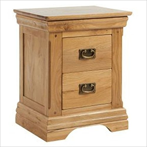 Buy Cheap Wren Living Solid Oak Farmhouse Chester 2 Drawer