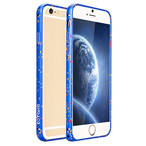 Iphone 6 Case, Coteetci® [Firework Series] Iphone 6 (4.7) Case Protective Aluminum Metal Frame Bumper With Trendy Color Case For Iphone6 (4.7 Inch) (2014)-Blue