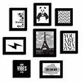 Art Street Set of 8 Quote Photo frames - Positive vibes theme wall quotes
