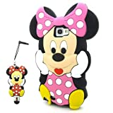 i.Try Minnie Pink Soft Silicone Case for Samsung Galaxy Note 2 II N7100+3D Minnie Stylus