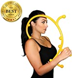 Manual Back Hook Massager Stick (Patent-Pending Mid, Lower, Upper Neck Back Shoulder Self Massaging Hook) - Physical Therapy Massage Equipment Tools - Myofascial Release Chiropractic Massager - Trigger Point Release Therapy - Loved by crossfitters, athletes, chiropractors and physical therapists