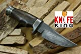 "MASSIVE SALE"" Knife King Custom Damascus Handmade Hunting Knife. With Leather Sheath. Top Quality"