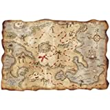 Plastic Treasure Map Party Accessory (1 count) (1/Pkg) (Multicolored, 2)