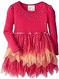 Beautees Little Girls Tiered Tonal Tunic, Hot Pink, 5