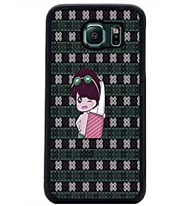 PrintDhaba Cartoon D-3307 Back Case Cover for SAMSUNG GALAXY S6 EDGE (Multi-Coloured)