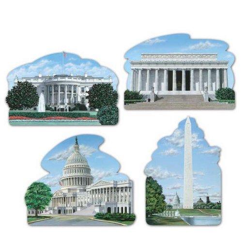 Washington DC Cutouts Party Accessory (1 count) (4/Pkg)