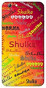 Shulka (Popular Girl Name) Name & Sign Printed All over customize & Personalized!! Protective back cover for your Smart Phone : Moto E-2 ( 2nd Gen )