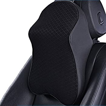 ZATOOTO Memory Foam Car Neck Pillow Travel Auto Head Neck Rest Cushion Neck Support Headrest Pillow (Black) ¡­