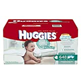 Huggies One and Done Refreshing Baby Wipes Refill, Cucumber and Green Tea, 648 Count (Packaging may vary)