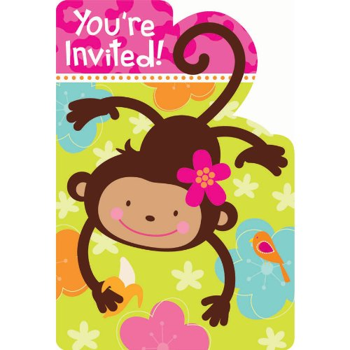 Monkey Love Invitations Monkey Love Invitations