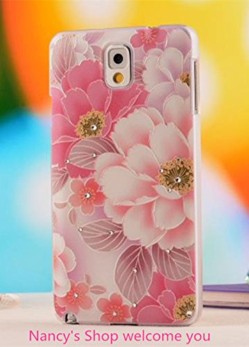 Nancy'S Shop Colorful Painting 3D Hard Cell Phone Accessories Case And Covers For Unlocked Tmobile Samsung Galaxy Note 3 Iii (Pink Flower)