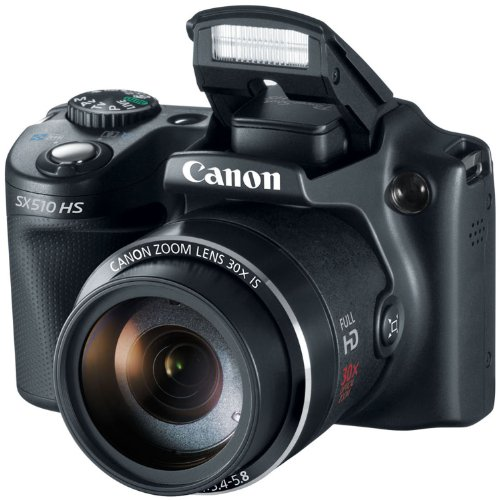Canon PowerShot SX510 HS 12.1 MP CMOS Digital Camera.