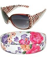 Womens Designer Sunglasses With Rhinestones Shades Block 100% UVB UVA 2718