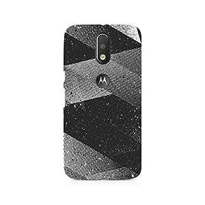 Mobicture Gradient Black Lines Premium Printed Case For Moto G4/G4 Plus