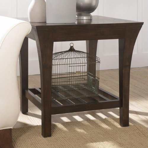 Image of Hammary T2006610-00 Urban Flair Square End Table in Umber Finish (T2006610-00)